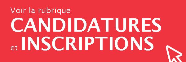 Candidatures-inscriptions