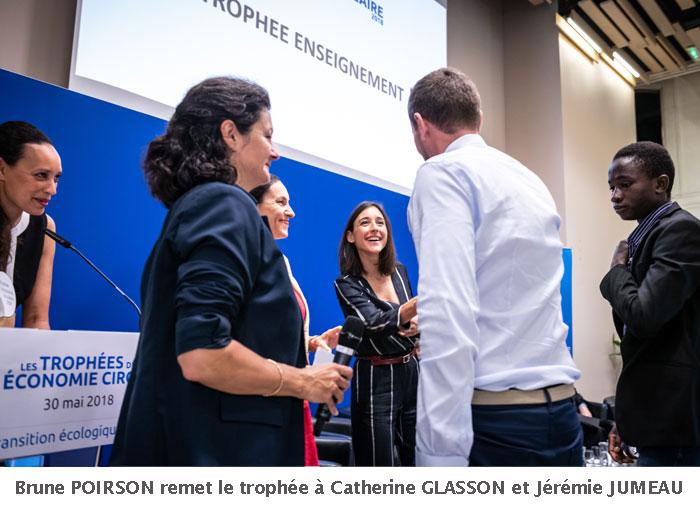 Brune Poirson, Remise des Trophées de l'économie circulaire 2018