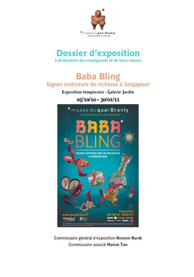 "Quai Branly : dossier pédagogique ""Baba Bling"""