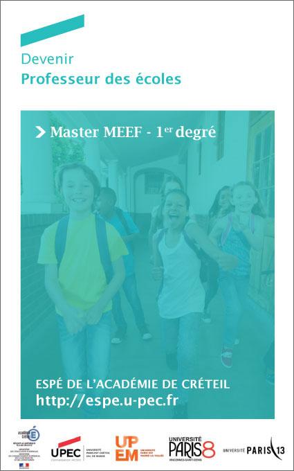 Devenir Professeur des écoles - Master MEEF 1er degré