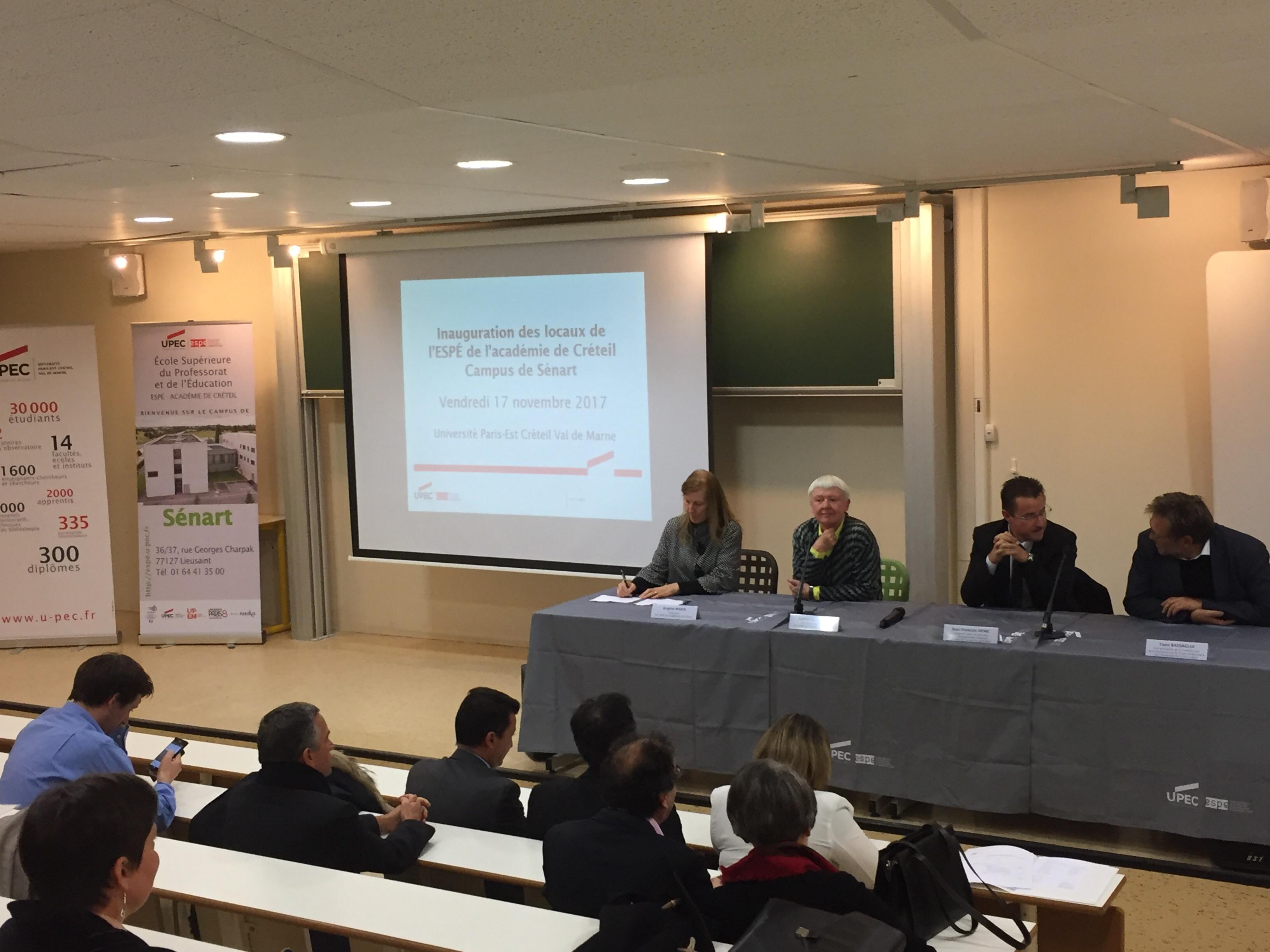 Inauguration ESPE, Campus de Sénart, 17.11.2017