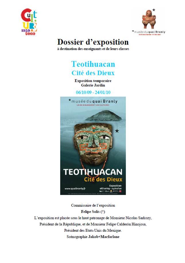 """Quai Branly : Dossier pédagogique """"Teotihuacan"""""""