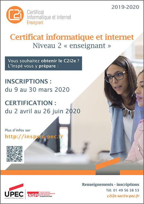 Affiche Campagne C2i2e 2019-2020