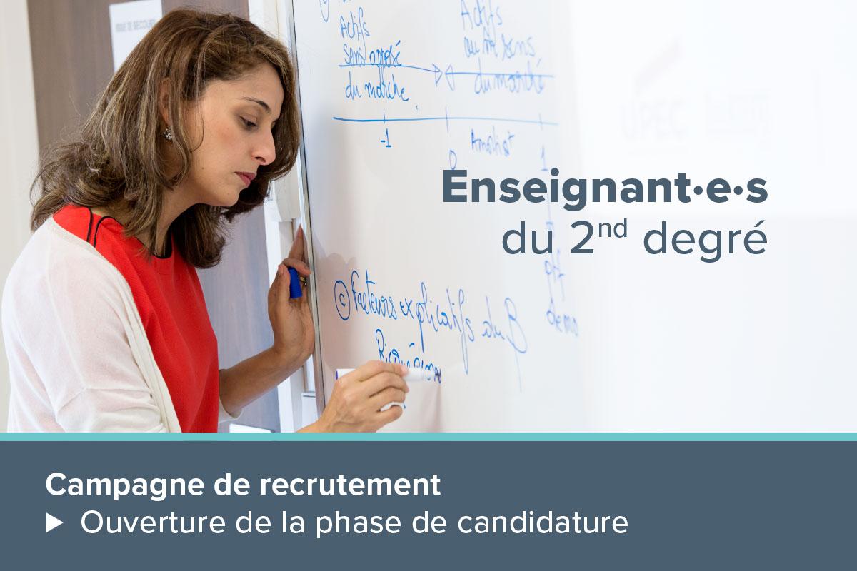 Campagne de recrutement d'enseignants du second degré - 1200x800