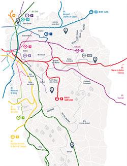 Carte des inspé de l'académie de Créteil