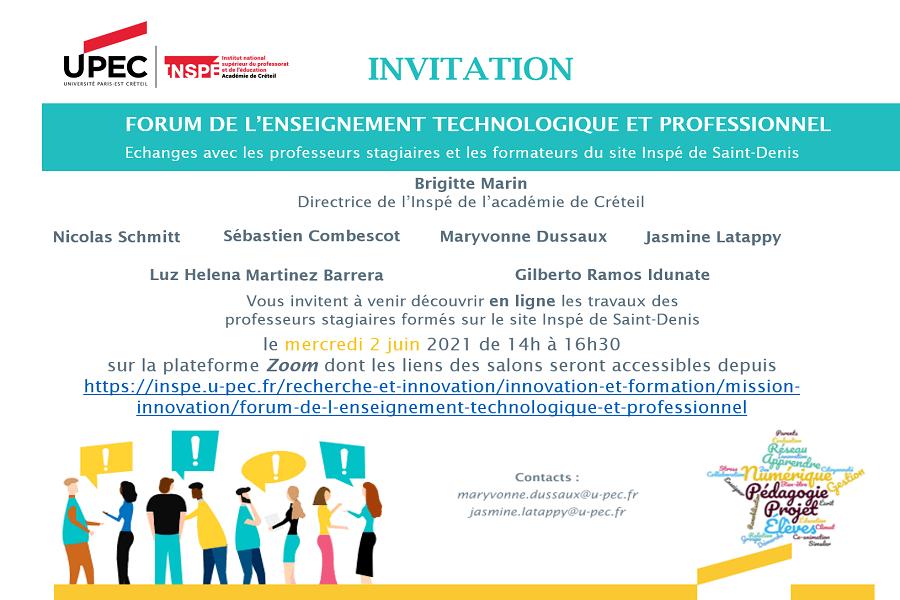 Forum de l'enseignement technologique et professionnel 2021