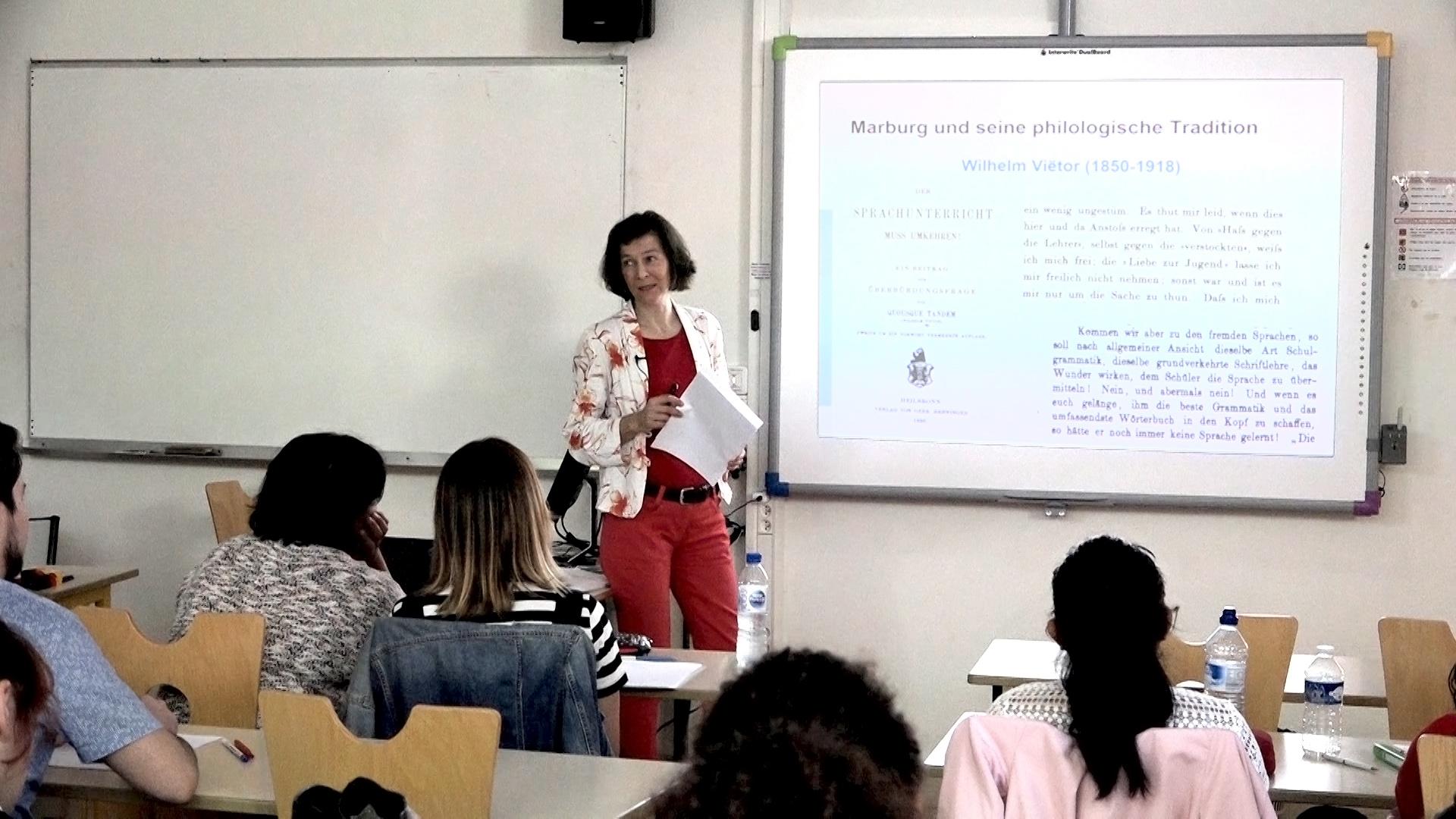 Conférence-atelier d'Una Dirks dans le cadre de sa visite dans l'académie de Créteil