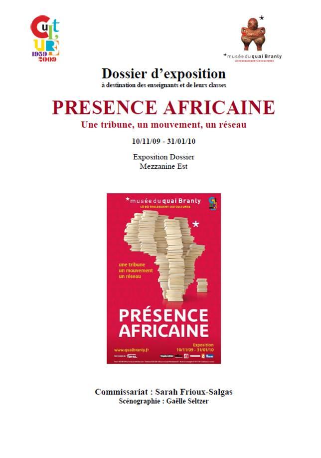 """Quai Branly : dossier pédagogique """"Présence Africaine"""""""