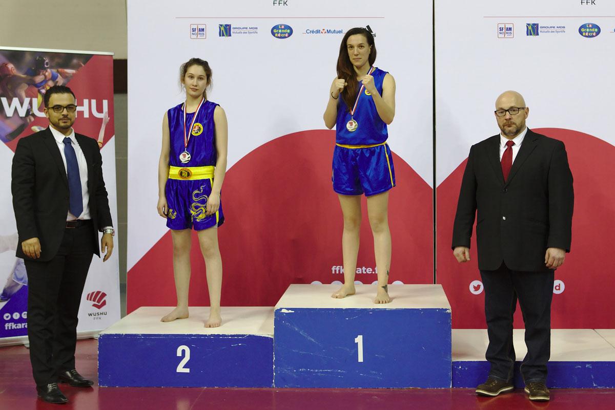 Chloé Steigelmann, championne de France de Sanda 2018
